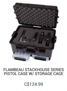 Flambeau Stackhouse Series Pistol Case with Storage Cage