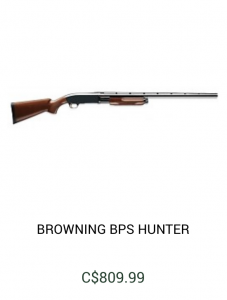 Browning BPS Hunter Rifle